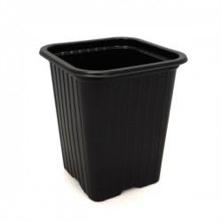 Godet en PVC noir 7x7x8cm