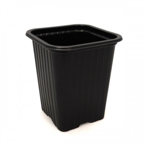 Godet en PVC noir 9x9x10cm