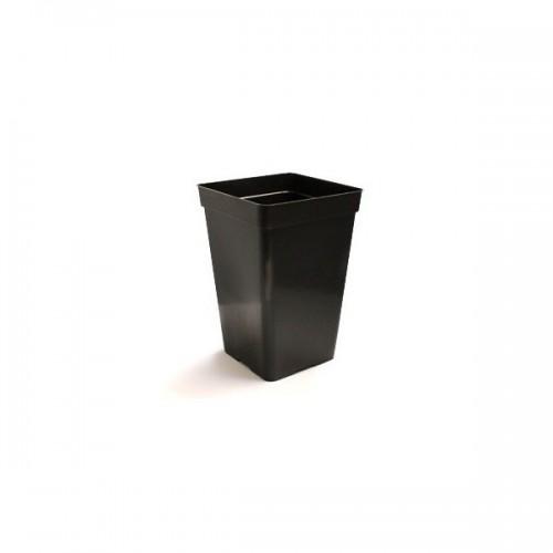 Pot carré noir haut 1.8 litres - 10.5x10.5x22cm