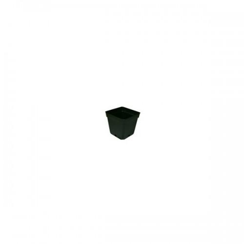 POT carré noir 2 litres - 13x13x13cm