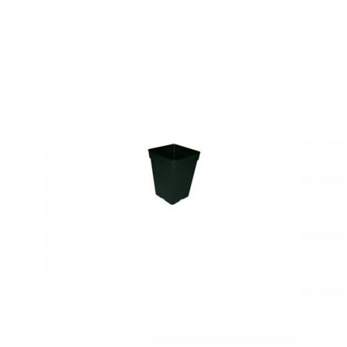 POT carré noir 3 litres - 15x15x20cm