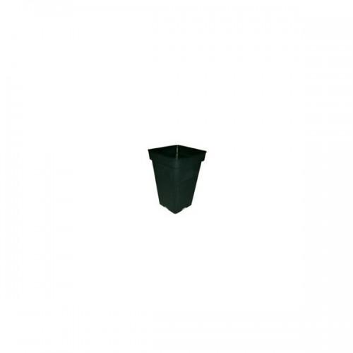 POT carré noir 5.5 litres - 18x18x25.5cm