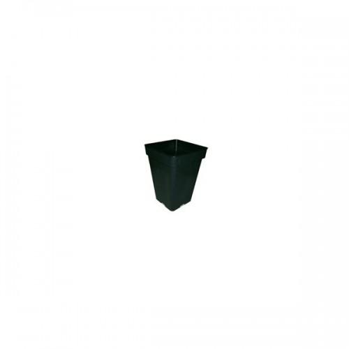 POT carré noir 7 litres - 20x20x27,5cm