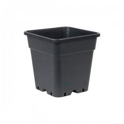 POT carré noir 14 litres - 28.5x28.5x28.4cm