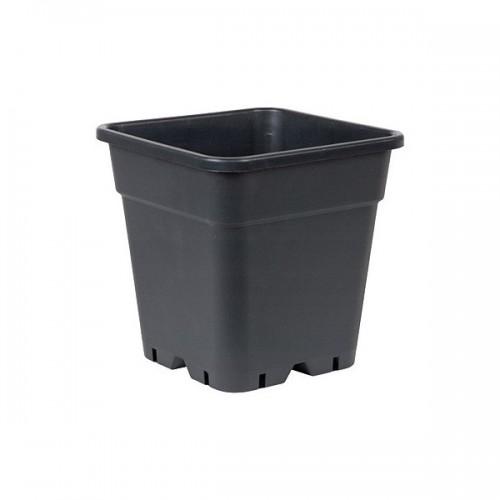 POT carré noir 30 litres - 36.5x36.5x36cm
