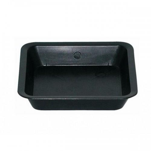Soucoupe carrée noire - 14.1x14.1cm