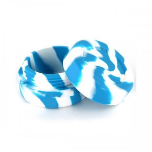 Boite silicone 3.6cm bleu/blanc