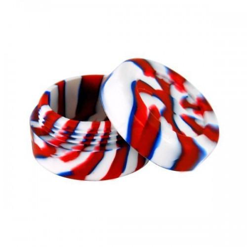 Boite silicone 3.6cm rouge/blanc