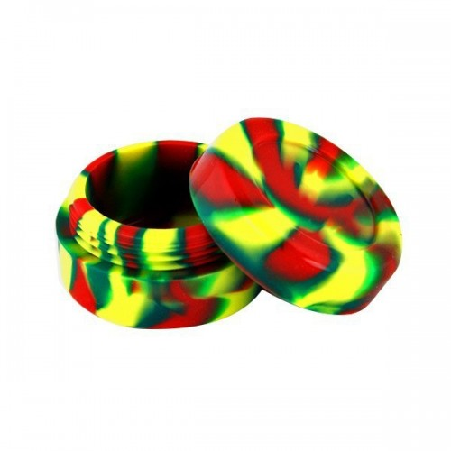 Boite silicone 3.6cm rouge/jaune/vert