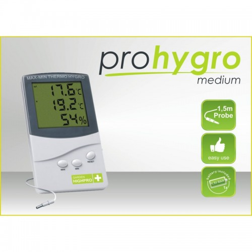 Thermo-hygromètre MEDIUM avec sonde 1,5m - GARDEN HIGHPRO
