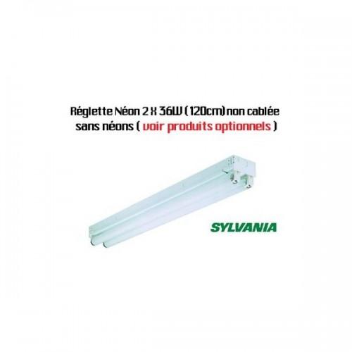 Réglette néon T8 Sylvania 2 x 36W (120cm) non câblé