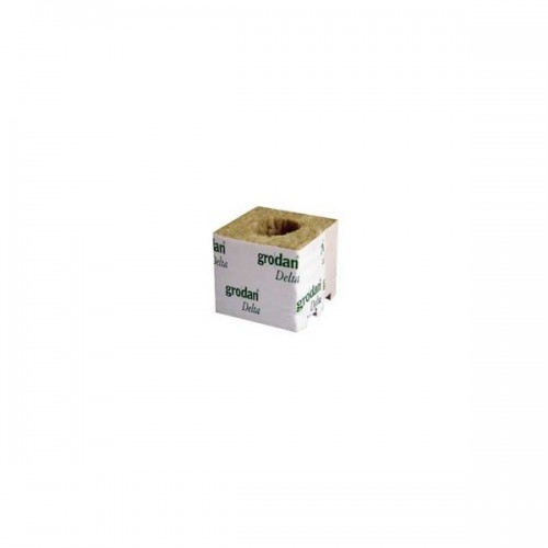 Cube de laine de Roche 75mm Trou 18mm - GRODAN