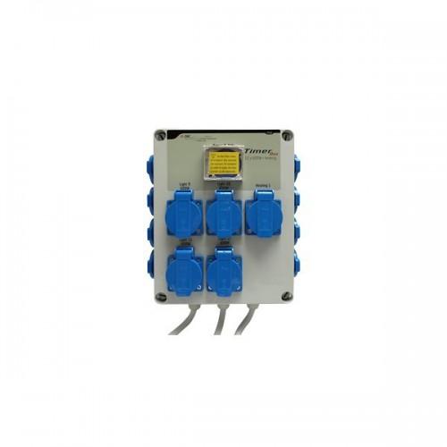 TIMER BOX 12 X 600W avec prise chauffage - GSE